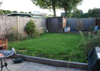 Baldock garden before work began
