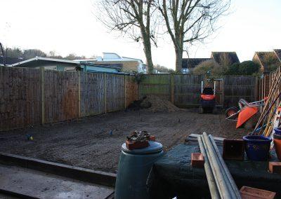 Baldock garden cleared