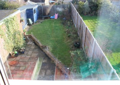 Hitchin garden before transformation