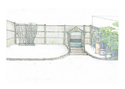 Garden design illustration