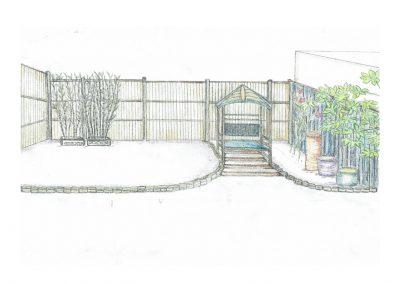 Garden design illustration