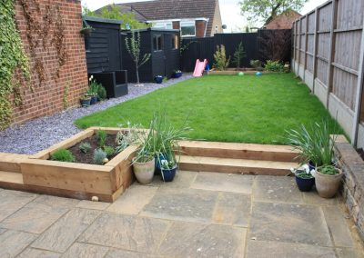 Hitchin garden installation