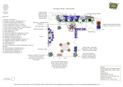Planting plan for courtyard garden