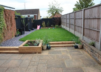 Hitchin garden transformation