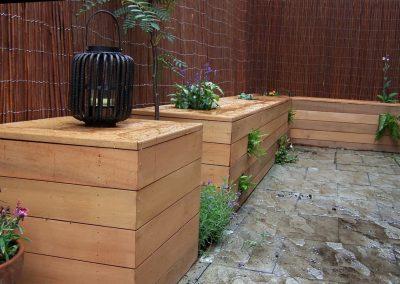 Cedar box seat