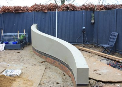 Curved wall