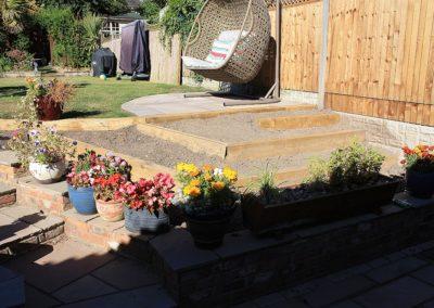 Baldock garden before planting