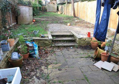 Before garden installation March 2019