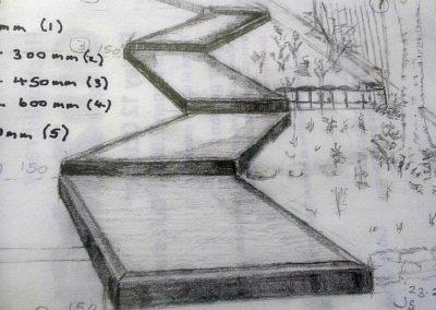 Timber steps sketch