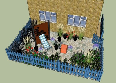 Letchworth garden city sunny front garden