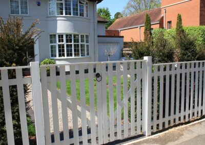 White contemporary gates and fencing